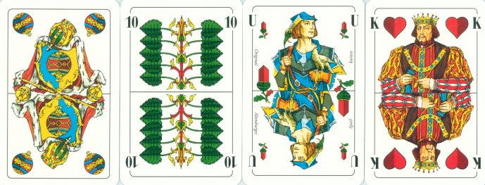 Französisches Kartenblatt